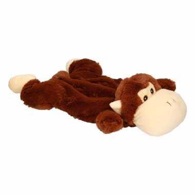 Knuffel kruik bruine aap liggend