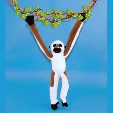 Pluche hangende apen knuffel