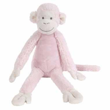 Roze knuffel aap