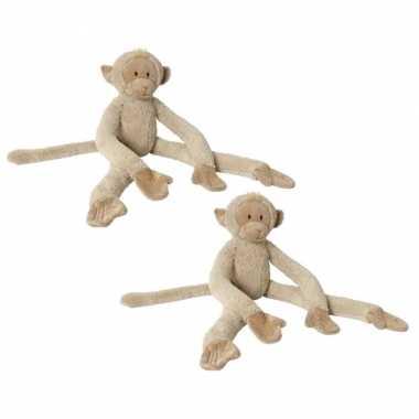 X stuks happy horse knuffel aapje beige