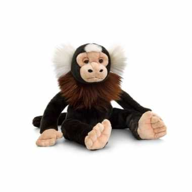 Zittende marmoset aap knuffeldier cm
